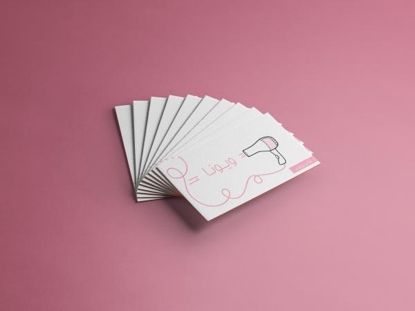 طراحی و دانلود کارت ویزیت سالن زیبایی ویونا